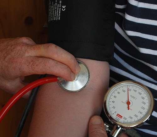 Blutdruckmessung Vorgehen Ablesen des systonischen Blutdruck
