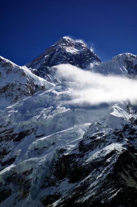 sauerstoffgehalt der Luft in grosser Höhe, Mount Everest